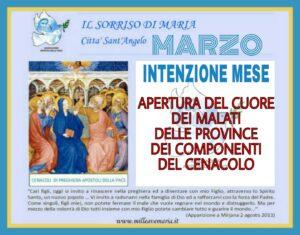 INTENZIONE DI PREGHIERA DEL CENACOLO MESE DI MARZO.