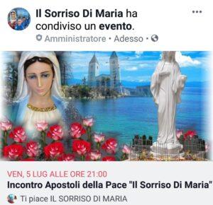 INTENZIONE DI PREGHIERA DEL CENACOLO MESE DI LUGLIO. ( Video diretta + TESTO )
