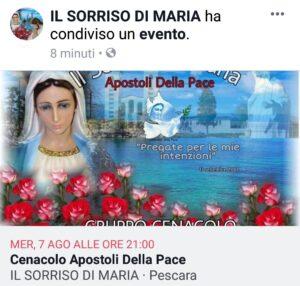 INTENZIONE DI PREGHIERA DEL CENACOLO MESE DI AGOSTO. ( Video diretta + TESTO )