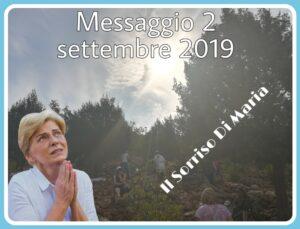 MESSAGGIO A MIRJIANA 2 SETTEMBRE 2019