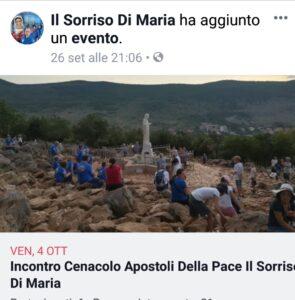 INTENZIONE DI PREGHIERA DEL CENACOLO MESE DI OTTOBRE. ( Video diretta + TESTO )