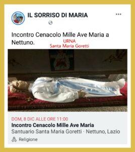 INTENZIONE DI PREGHIERA DEL CENACOLO MESE DI DICEMBRE. ( Video diretta + TESTO )